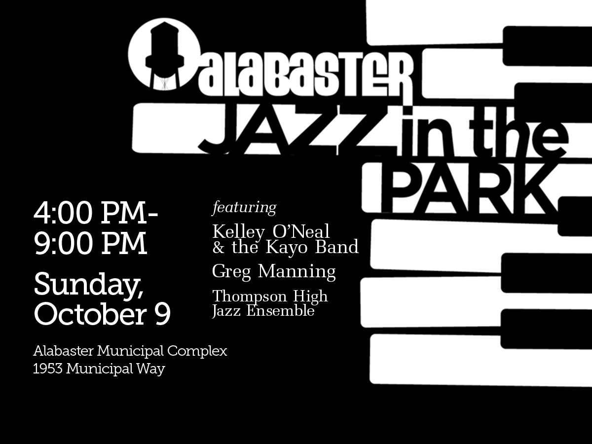 Alabaster Jazz in the Park, Sunday, October 9, 4 PM-9 PM