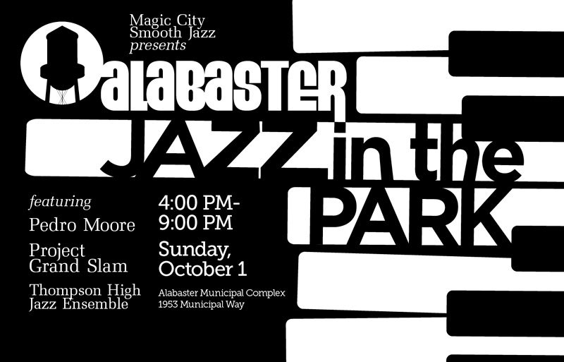 Alabaster Jazz in the Park: Sunday, October 1, 4 PM