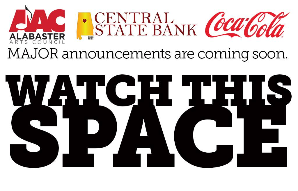 Watch This Space for Artist Announcements!