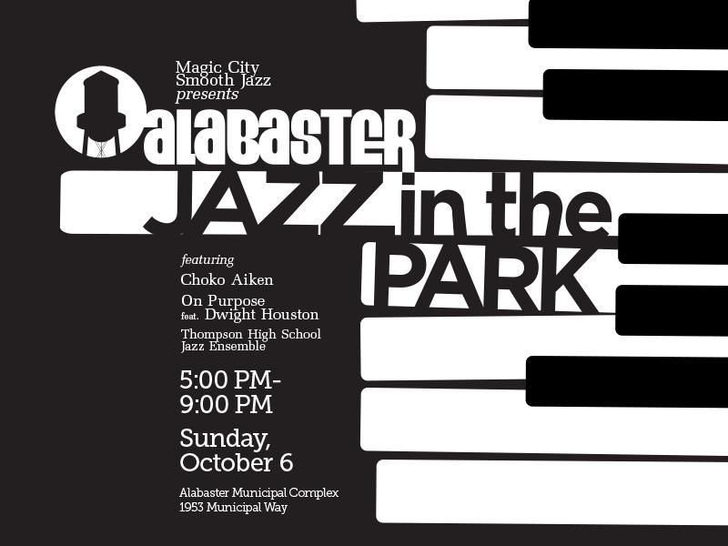 Alabaster Jazz in the Park: Sunday, October 6, 5 PM